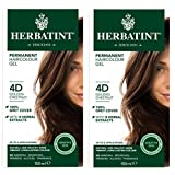 Herbatint 4D 金栗子永久*剂(2 瓶装)不含*精和氨,每个 122.24 毫升