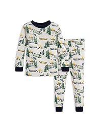 Burt's Bees 男婴睡衣,T 恤和裤子 2 件套睡衣套装,* *棉