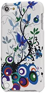 JUJEO Colored Flora Snap-On Protective Combo Hard Case Accessory for iPod touch 5