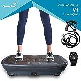 skandika 振动健身机 V1 / V1 Twin引擎采用创新的摆动技术 / 3D 摇摆技术 | 安静电机包括 海报 + 训练带 + 手链遥控器