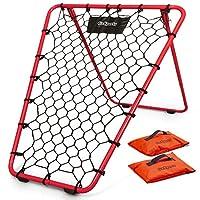GoSports 篮球反弹器,带可调节框架,橡胶握把脚和沙包 | 便携式后背训练辅助工具