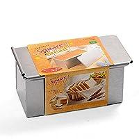 CAKELAND 带盖9.5cm正方吐司面包模具1斤 2383(日本的1斤≈600g)(亚马逊自营商品, 由供应商配送)