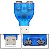 SaiTech IT USB TO 双 PS2 转换器适配器 - 蓝色