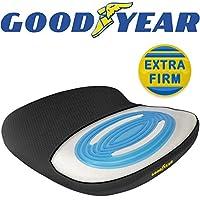 Goodyear GY1143 – 办公椅或汽车/SUV 坐垫 – *泡沫与冷却凝胶 – 透气网眼 – 适合大多数座椅 – 专为实现*大舒适度而设计 – 防滑底 可水洗套