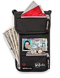 旅行领钱包护照夹,带射频识别屏蔽 - 高级旅行袋