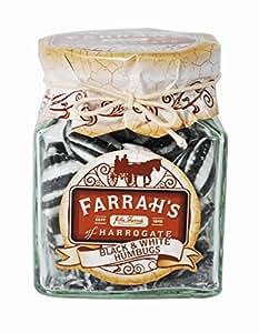 Farrah's of Harrogate Black and White Humbugs Sweet Jar 150 g