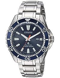 Citizen BN0191-55L Men's Promaster Diver Eco-Drive Blue Dial Stainless Steel Bracelet Dive Watch