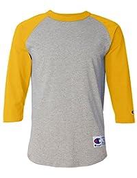 Champion 男士 Raglan 棒球休闲运动T恤
