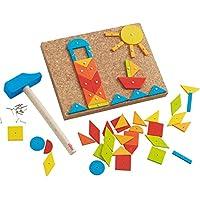 HABA 302963 钉子游戏,多色,幼儿玩具