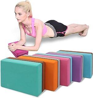CWM 18 色普拉提 EVA 2 件装瑜伽砖块运动健身泡沫锻炼拉伸辅助塑身*训练