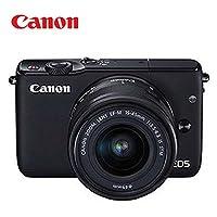 佳能 Canon EOS M10(15-45)可换镜头单电美颜自拍相机( 黑色)附送金士顿32G高速SD卡+相机包+贴膜+读卡器+保护镜头的UV镜+气吹+魔布+镜头纸+镜头绳