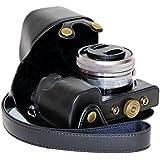 J.M.SHOW A6300相机皮套索尼 ILCE-6000L/W 微单保护套 索尼sony a6000 相机包 镜头16-50mm相机内胆包摄影相机配件 内配相机肩带 黑色