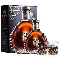法国原酒进口 国内装瓶 派斯顿洋酒XO白兰地 40% vol经典特色瓶型 (大小金钻组合700ml+250ml)