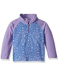Columbia 女孩 Glacial Ii 抓绒印花半拉链 Paisley Purple Floral/Paisley Purple X-Large