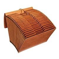 Globe-Weis/Pendaflex 重型 31 个口袋扩展文件带盖,1-31 索引,字母尺寸,棕色,(R117DLHD)