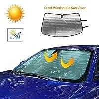 JeCar 前挡风玻璃遮阳窗遮阳罩阻挡紫外线太阳遮阳罩适用于道奇充电器 2015-2020