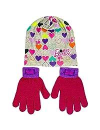 女孩冬季帽子和手套套装