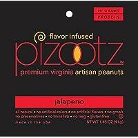 PIZOOTZ 墨西哥胡椒风味花生 优质弗吉尼亚美食, 1.45盎司(41.035克) (18件装)