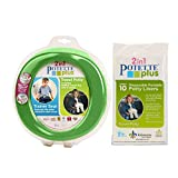 Potette Plus 旅行马桶包括 10 片装衬垫 绿色