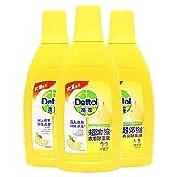 Dettol 滴露 超浓缩衣物除菌液 清新柠檬 700ml*3(亚马逊自营商品, 由供应商配送)