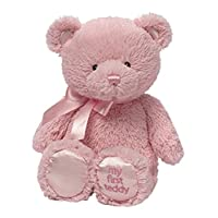 """Gund 婴儿 Gund My 1st Teddy 毛绒玩具,粉红色,10"""""""