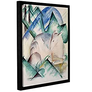 "ArtWall Franz Marc's Sleeping Deer Gallery Wrapped Floater Framed Canvas, 14"" x 18"""