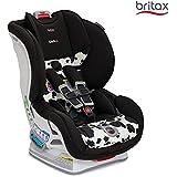 美版 Britax 宝得适 MARATHON ClickTight Convertible儿童安全座椅, COWMOOFLAGE 奶牛色(美国进口,香港直邮)适用体重5-65磅,约0-8岁,五点式安全带,安装方式为Click Tight安装系统(Britax全球仅美版高端款才有的最新安装技术,仅需安全带安装,安装正确度、简易性大大提升)7档角度调节,12档高度调节,特有SafeCell冲击保护系统,美亚畅销同款,该款设计,测试,制造均在美国