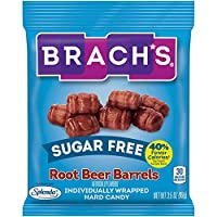 Brach's Sugar Free Root Beer Barrels Candy, 3.5 Ounce Bag, Pack of 12