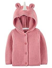 Carter's 女婴连帽长袖独角兽开衫粉色