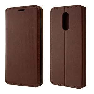 LG STYLO 4 (2018) 手机壳,Microseve 混合双层装甲全保护壳 Wallet Brown