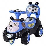 A+B 滑行车蜜蜂学步车儿童可坐宝宝玩具车婴儿靠背童车音乐助步车 7625蓝色