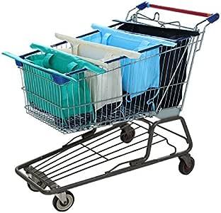 购物车手推车包 - 4 个可重复使用的杂货袋 Pleasant unknown