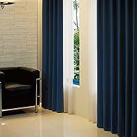 【窗户美人】【1级遮光】采用订购窗帘所使用的全消光布料的高级遮光1级窗帘! 专注于颜色制作的NEW颜色登场! 尺寸展开也很丰富! 「阿拉伯式」 宝蓝色 幅100×丈185cm 2枚組 -