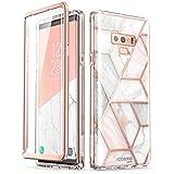 三星 Galaxy Note 9 手机壳,【内置屏幕保护膜】i-Blason 【Cosmo】全机壳闪光防撞保护套适用于 Galaxy Note 9(2018 版) 大理石