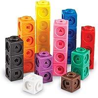 Learning Resources Mathlink立方体积木,益智计数玩具,早期数学技能培养,一组100个积木
