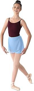 Mirella 女式乔其纱裹身舞裙,浅蓝色,均码
