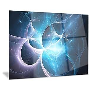 Designart 彩色星云。 Distant Magnificent Galaxy。 Stardust。 太空风。 金属墙壁艺术 - MT7928 28x12 MT7928-28-12