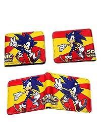 3 件套游戏人物刺猬索尼克钱包 ID 信用卡夹硬币袋 男孩女孩