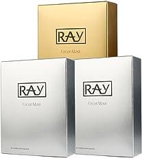 范冰冰推荐 泰国RAY蚕丝面膜金色银色30片 量贩三盒装 ((30片,银色两盒+金色一盒))