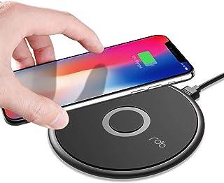 REDBEAN 无线充电器 Qi-认证 10W Max 快速无线便携式充电垫 兼容 iPhone 11 Pro Max XS MAX XR XS X 8,三星 Galaxy Note 10 S10 S10e S9 S8(附 1 Type C 线)