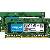 Crucial 16GB内存卡套装(8GBx2)DDR3-1600 MT/秒(PC3-12800)204针SODIMM笔记本内存卡CT2KIT102464BF160B/ CT2CP102464BF160B