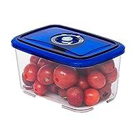 宝优妮 水果保鲜盒 便携抽真空塑料带盖微波饭盒便当盒 DQ9114-6 送真空泵(亚马逊自营商品, 由供应商配送)