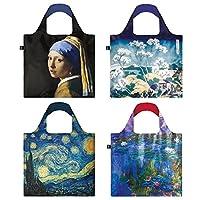 LOQI Museum10 系列袋子 4 个可重复使用的杂货袋