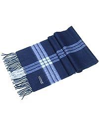 Saferin 女式男式羊绒和羊毛格子保暖柔软围巾,带礼品盒