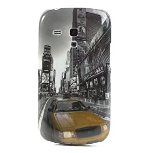 JUJEO Car in the Street Pattern Hard Back Cover Shell for Samsung Galaxy S III Mini I8190 - Non-Retail Packaging - Multi Color