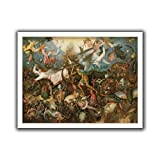 ArtWall Pieter Bruegel ' The Fall of The Rebel Angels' Unwrapped Canvas Art, 18 by 22-Inch
