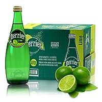 Perrier 巴黎水含气天然矿泉水 750ml*12瓶 青柠口味2017年7月份生产 保质期2年