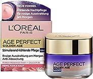 L'Oréal Paris 巴黎欧莱雅 金致臻颜系列 清爽晚霜 50ml,含新钙和牡丹提取物,锁龄养护,令肤色红润清新,适用于