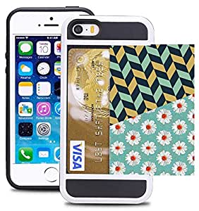 iPhone 5 卡包 Chevron and Daisy Flower Pattern