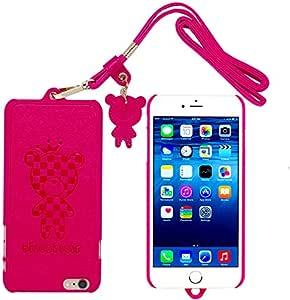迷人可爱的泰迪熊保护硬质手机壳 i5 红色